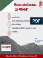 Taller Modelización Geológica Con PROMINE