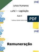 Legislação - Remuneração