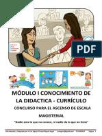 Modulo i Conocimiento de La Didactica Curriculo Ascenso Docente 2017 Miguel Espejo