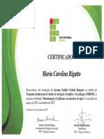Certificado PIBIFSP Carol