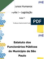 Legislação - Estatuto dos funcionários públicos