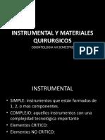 Instrumental y Materiales Quirurgicos