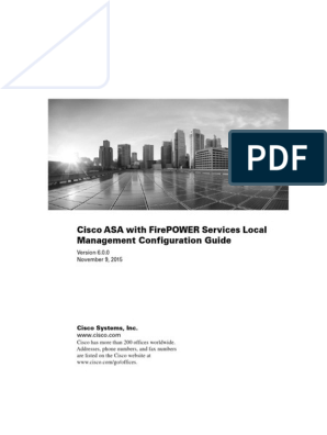 Cisco ASA With FirePOWER Services Local Management