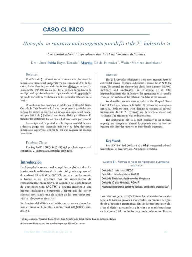 hiperplasia suprarrenal congenita no clasica tratamiento