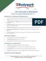 Formazione Triennale in Osteopatia Testi Di Studio Fondamentali (_)