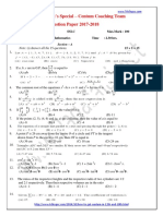 Padasalai Net 10th Maths Em Centum Coaching Team Question Paper