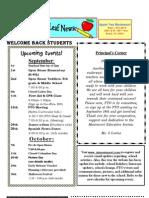 Newsletter Sept 2010 Appletree Montessori School