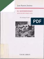 El Modernismo Apuntes de Un Curso 1953 (Juan Ramón Jiménez)