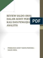 penentuan saldo awal Prosedur Analitis Ppt