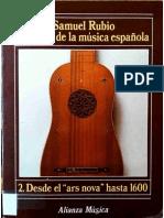 RUBIO, Samuel - Historia de La Música Española