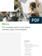 UT Complete Guide to User Testing