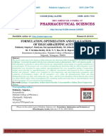 FORMULATION, OPTIMIZATION AND EVALUATION OF ESLICARBAZEPINE ACETATE