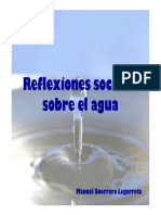 Reflexiones Sociales Sobre El Agua