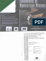 Fundamentos de Manufactura Moderna - 1ra Edicion - Mikell P. Groover