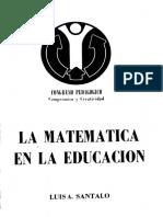 La Matematica en La Educacion