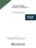 Geometric Control Theory - Velimir Jurdjevic