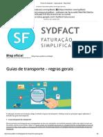Guias de Transporte – Regras Gerais