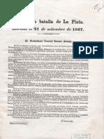 1867 Parte de La Batalla de La Plata