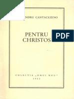 Alexandru Cantacuzino - Pentru Christos - col. Omul Nou 1952