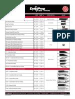 DynaPrep MDSF Tooling Chart