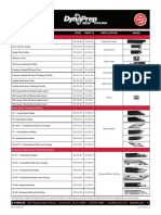 DynaPrep MDSF Tooling Chart