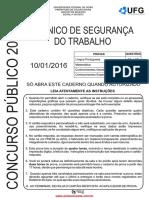 2016 Pref. Caldas Novas-ufg-médio Tec Seg Trab