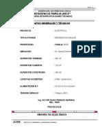 Especificaciones Elect. Casa Arce