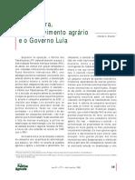 Politica Agrária No Governo Lula