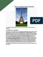 Estadísticas Sobre El Turismo Internacional
