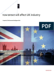 How Brexit Will Impact UK Industry
