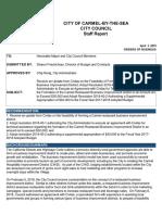 Update Feasibility of Forming Carmel Restaurant BID 04-03-18