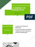 Sesión No. 3 - Consenso de Washington