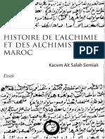 Histoire de L'Alchimie Et Des Alchimistes Au Maroc - Kacem Ait Salah Semlali