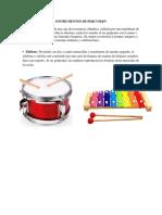 Instrumentos de Percusi