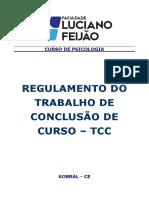 Regulamento TCC 2018 Psicologia