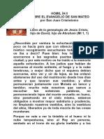 Homil Ía II San Juan Crisostomo