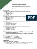 Ejercicios de Quimica Organica 1