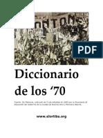 Diccionario de Los 70