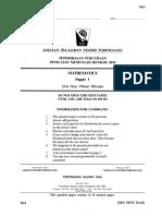 TRIAL MATE Pmr 2010 Terengganu Paper 1