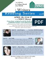 Creative Writers Reading Series 2018