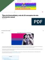 Tipos de Bisexualidad y Más de 20 Conceptos de Esta Orientación Sexual –