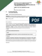 Informe N° 001 Solicitud de Certificación Presupuestal