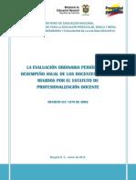 La evaluación periódica anual de desempeño docentes tutores