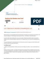 2. Tableau Croisé Dynamique Avec Excel