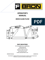 Dl400 Plow Operator's Manual