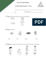 Ficha de Avaliacao Trimestral 1 -Estudo Do Meio