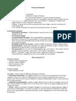 Méthode Projet Professionnel Licence 3 Droit