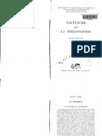 1962 Nietzsche Et La Philosophie