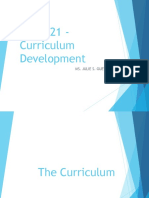 3. CURR 21 Curriculum Development 1