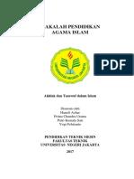 Akhlak Dan Tasawuf Dalam Islam